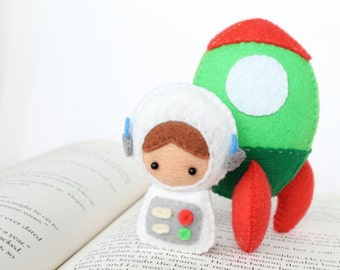 Patterns: Felt Astronaut Doll and Rocket Plush