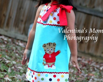 Beautiful and Unique  Daniel Tiger's Neighborhood pillowcase dress or halter dress