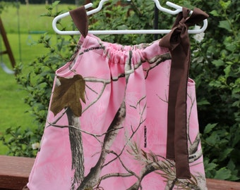 Pink Realtree Camo Dress (Available in large sizes)