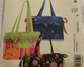 McCall's M5164 UNCUT Pattern / Ladies Totes / Easy / Stitch 'n Save