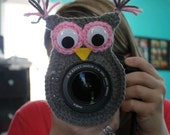 Crochet camera lens buddy- owl