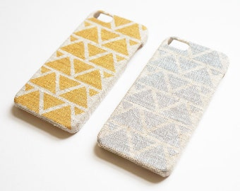 Geometric iPhone 6s case, Gold iPhone 6 case, Triangle iPhone 6 Plus case, Linen iPhone case, Samsung Galaxy S6 case