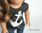 Anchor T-shirt - American Girl Doll Clothes