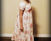 Vintage Rose Edwardian Lawn Dress by Steady As She Goes girls 2T 3T 4 5 6 7 pink long maxi princess gown Victorian empire waist costume