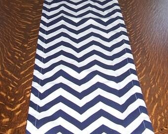 Great Blue Runner   Navy Runner   Blue Chevron Runner   TABLE RUNNER   Nautical    Blue