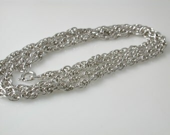 Silver Plated Rope Chain