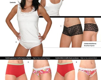 Jalie 2568 Women's & Girls Underwear - Camisole and Panties Sewing Pattern in 27 Sizes