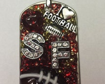 San Francisco 49er Inspired Bling Embellished Necklace