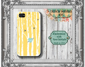 Love Birds iPhone Case, Personalized iPhone Case, Fits iPhone 4,4s, iPhone 5, 5s, 5c, iPhone 6 , 6 Plus, Phone Cover, Phone Case