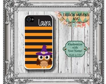 Halloween iPhone Case, Owl iPhone Case, Personalized iPhone Case, iPhone 4, 4s, iPhone 5, 5s, 5c, iPhone 6, 6 Plus, SE, iPhone 7, 7 Plus