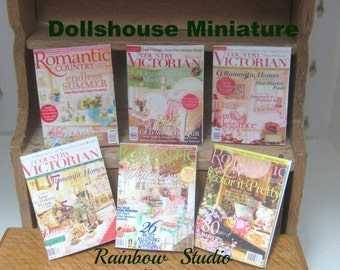 dollhouse victorian  magazines x 6 romantic country and country victorian 12th scale dollhouse lakeland artist
