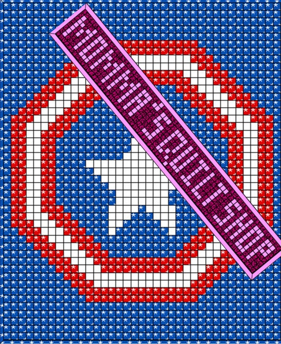Twin Quilt Patterns Free : Captain America quilt pattern twin/full size