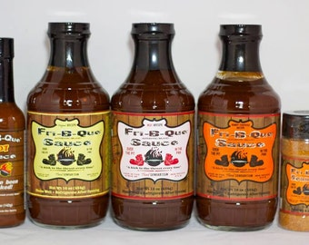 FriBQue BBQ Sauce and seasoning 5 Pack