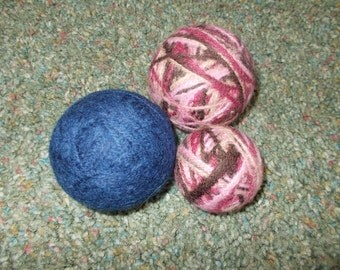 WOOL DRYER BALLS felted and ready to use, scented or unscented, you pick