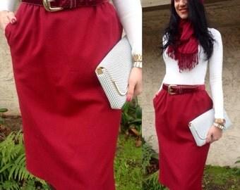 Red Pendleton Skirt Wool Red Pendleton Wool Skirt