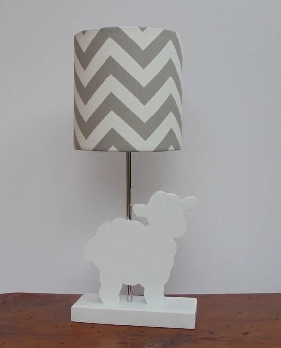 Lamb Lamp Base Handmade Wooden Animal Desk or Table Lamp