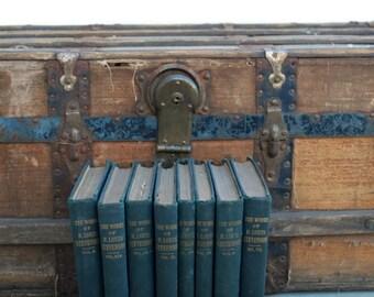 The Works of Robert Louis Stevenson, Vintage, 1912, Green, Antique Books, Vintage Decor
