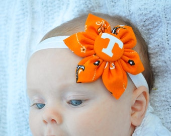 University of Tennessee Vols UT 6 petal fabric flower headband
