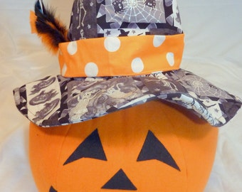 Halloween Decorations - Jack-o-lantern -Party decorations - stuffed pumpkin - Halloween centerpiece - Orange and Black - witches hat