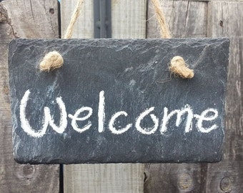 Welcome Sign - Slate Sign - Slate decor - Welcome Guests - Home sign - Office sign - Business sign - Rustic sign - Gift