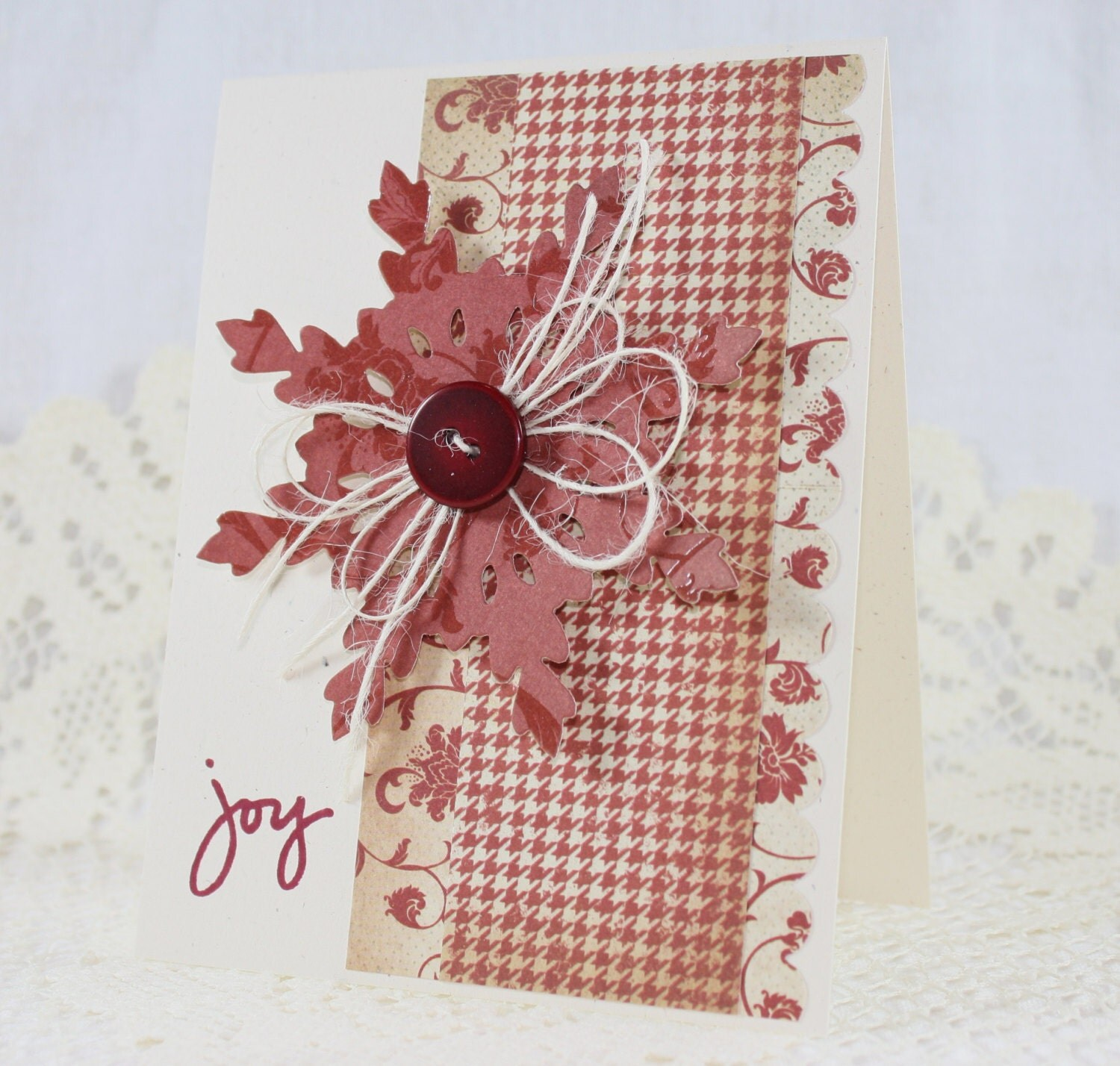 Handmade greeting card christmas joy for Handmade christmas cards