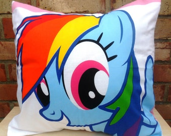 My Little Pony Rainbow Dash  Friendship is Magic Brony Cushion - Handmade by Alien Couture