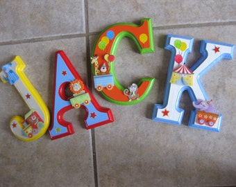 CUSTOM 6 X 4'  Hanging Wooden Wall Letters for Nursery or Child's Bedroom - Circus Theme