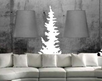 Evergreen Trees Wall Decal Sticker