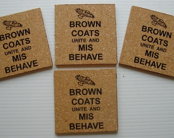 Firefly Senerity cork coasters - set of 4