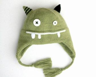 Knit hat  Monster - Kids knit hat - Toddler monster hat  - Little monster knitted hat