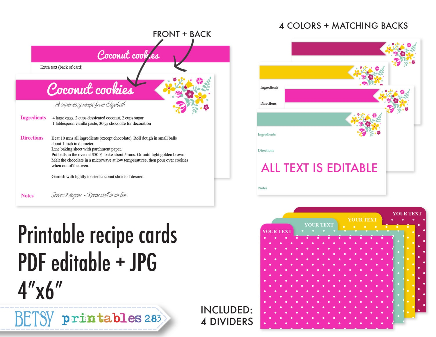 printable recipe cards 4x6 recipe cards recipe card