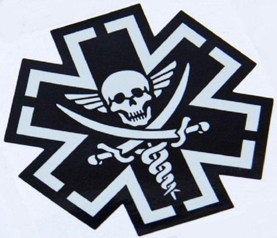 Tacmed Combat Medic Emt Skull Vinyl Decal