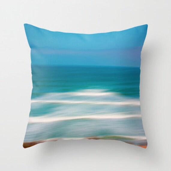 Beach Cottage Throw Pillows : Items similar to Ocean throw pillows, beach home decor, cottage decor, decorative pillows, blue ...