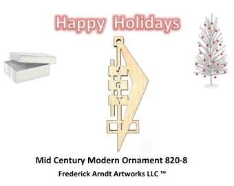 820-8 Mid Century Modern Christmas Ornament
