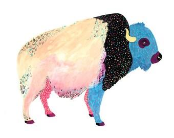 Cosmic Buffalo Print