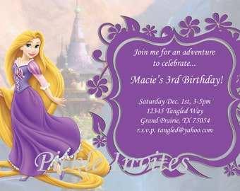 rapunzel birthday invitation template Cogimbous