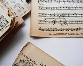 Vintage Sheet Music from 1917 Pack of 25 Sheets