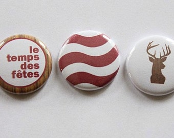 "3 badges 1 ""Christmas"