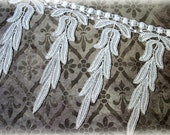 Ivory Venice Lace Trim for Appliques, Altered Art, Costumes, Lace Jewelry, Headbands, Sashes, Sewing, Crafts GL-108