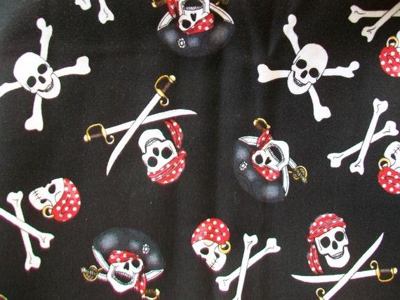 Pirate/Skull Cotton Fabric 35 x 36
