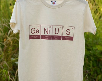 Kids T Shirt  - Genius - Science - Element - Child - Periodic Table