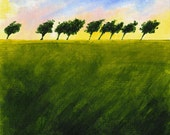 """Anywhere the Wind Blows 3/50 - this giclee print comes from an original 6x6"""" acrylic painting on canvas paper"""
