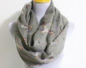 Unicorn Before Christmas Infinity Scarf Horse Scarf White Unicorn Scarf Gray Infinity Scarf Winter Soft Scarf Large Loop Scarf