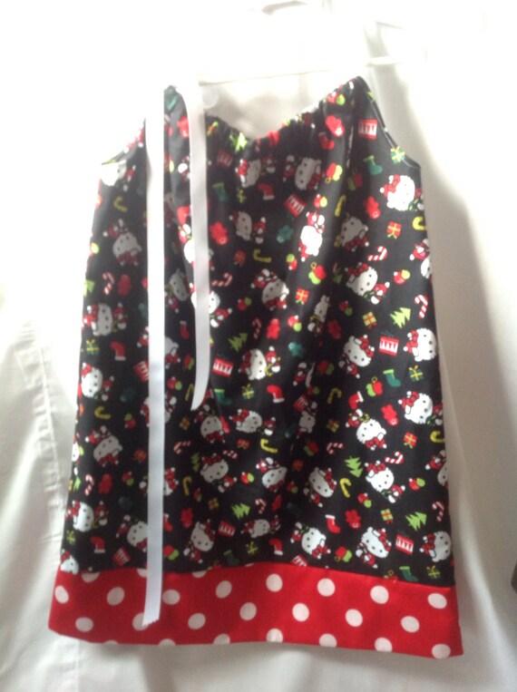 Items Similar To Hello Kitty Christmas Pillowcase Dress On