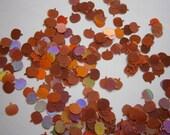 Candy Orange Holo PUMPKINS Nail Glitter -Halloween- Sample to 2 OZ