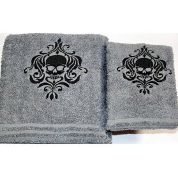 Bath Towel Sets Black And White: Items Similar To Halloween