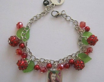 Raspberry Fairy Bracelet. Handmade, Unique