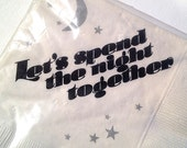 Vintage Let's Spend the Night Together Party Napkins 60 ct NOS c.1980s