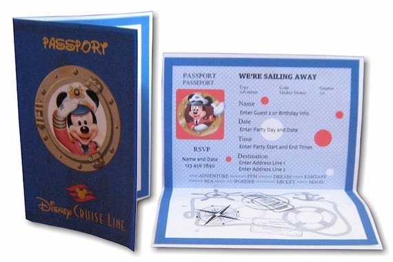 Items Similar To INSTANT Download - EDITABLE PDF Disney Cruise Passport Invitation On Etsy