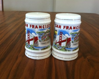 Vintage Ceramic SAN FRANCISCO Salt & Pepper Shakers